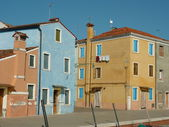 Colorful houses on the island of Burano, Italy — Foto Stock