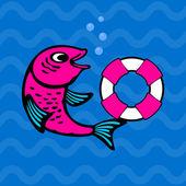 Fischen — Stockvektor
