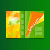 Abstract vector brochure — Stock Vector