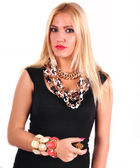 Fashion woman with jewelry — Stock Photo