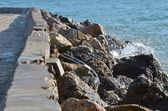 Skály a moře — Stock fotografie