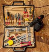 Set of plumbing tools — Stock Photo