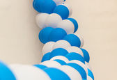 Inflatable balloons celebratory festoon — Stock Photo