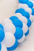 Inflatable balloons celebratory festoon — Stock Photo