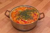 スープ キッチン パン — ストック写真