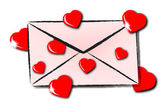 Envelope love — Stockvektor