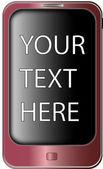 розовый смартфон — Cтоковый вектор
