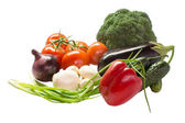 Vegetables on the isolated background — Foto Stock