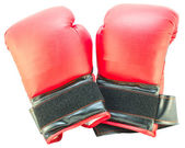 Red boxing gloves isolated — Stockfoto