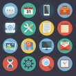 Flat Icons for Web and Applications Set 1 — Stock Vector