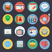 Flat Icons for Web and Applications Set 2 — Stock Vector