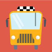 Bus flat illustration — Stock Vector