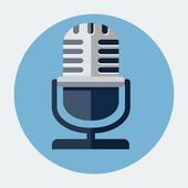 Vector microphone icon — Stock Vector