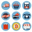 Stock Vector: Shopping Icons