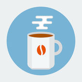 Koffiemok — Stockvector