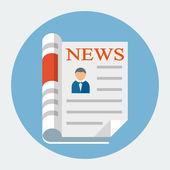 Vector Newspaper — Stock Vector