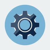 Gear Settings Icon — Stock Vector