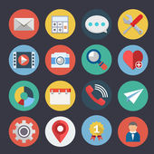 Flat Icons for Web and Applications Set 4 — Stock Vector