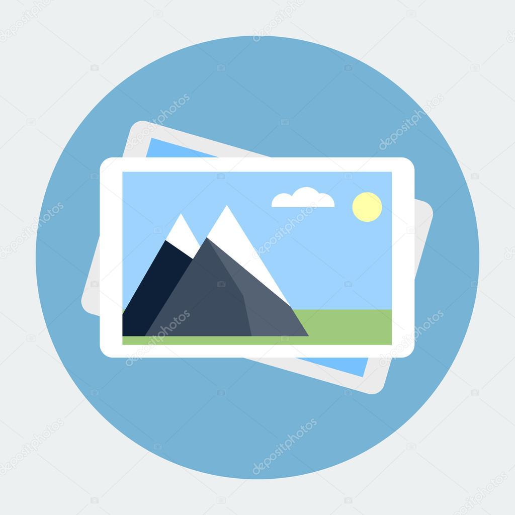 Photo gallery flat icon — Stock Vector © dacianlogan #40703383 Gallery Icon Flat