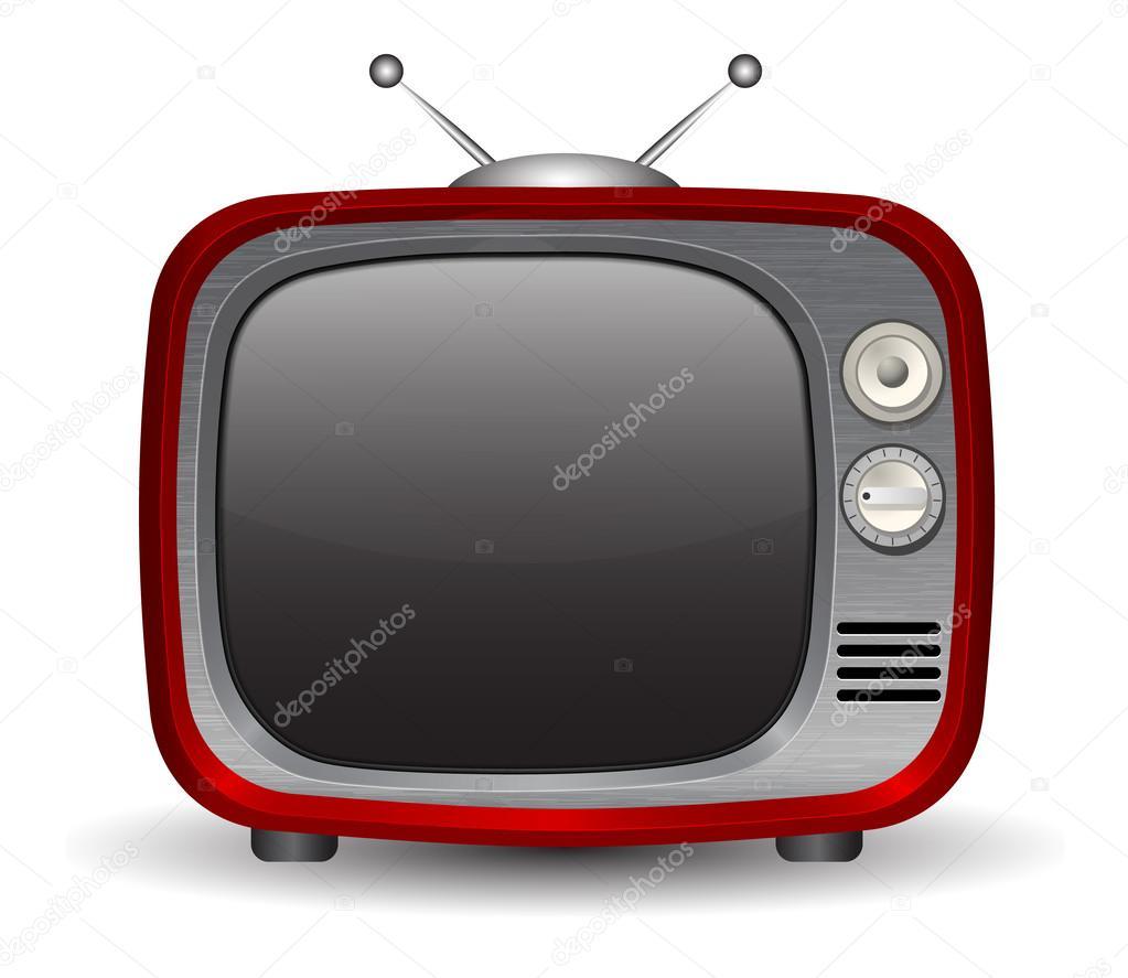 复古电视机— 矢量图片作者