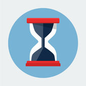 Hourglass Flat Icon — Stockvector