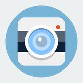 Camera flat icon — Stock Vector