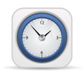 Vector clock icon — Vettoriale Stock