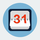 Calendar flat icon — Stockvector