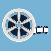 Film reel flat icon — Stockvektor