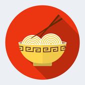 Noodles flat icon — Stockvector