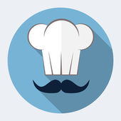 Chef hat flat icon — Stockvector