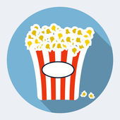 Popcorn flat icon — Stockvector