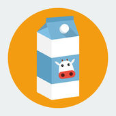 Milk box icon — Vector de stock