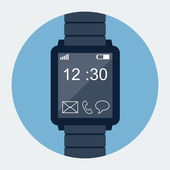 Smart Watch-klocka ikon — Stockvektor