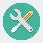 Screwdriver And Wrench,Settings Icon — Stock Vector
