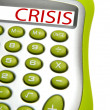 Calculator with word - Crisis — Stock Photo