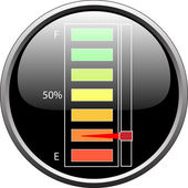 Fuel level device empty — Stock Vector