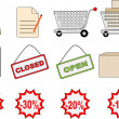 Shopping icon set — Stock Vector #35315799