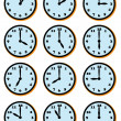 CLOCK FACES — Stock Vector #35322115