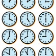 CLOCK FACES — Stock Vector