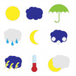 Weather stickers — Stok Vektör