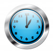 Glossy blue clock — Stock Vector
