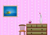 Girls room — Stock Vector