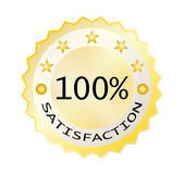 Hundred satisfaction — Stock Vector