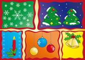 Vánoční koláž — Stock vektor