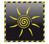 Кнопка солнца — Cтоковый вектор