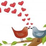 Kissing birds — Stockvektor  #35781213