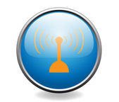 Radio antenna. Button — Vector de stock