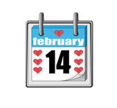 St Valentines day icon of the calendar — Stock Vector