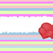Retro heart background — Stock Vector